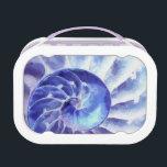 """Purple Nautilus Art Lunch Box<br><div class=""""desc"""">Purple nautilus shell art</div>"""