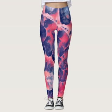 Beach Themed Purple Nautilus Leggings