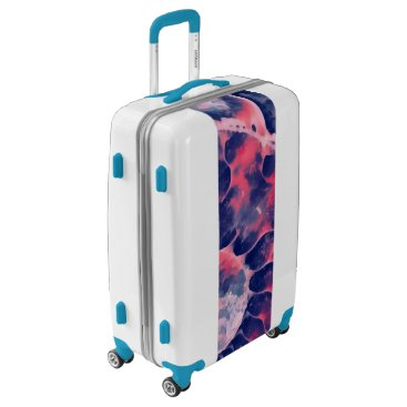 Beach Themed Purple Nautilus Luggage