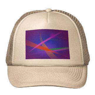 Purple Navy Crossing Colorful Lights Trucker Hat