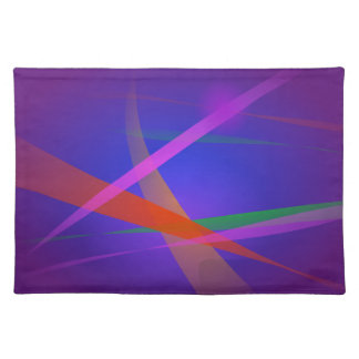 Purple Navy Crossing Colorful Lights Cloth Place Mat