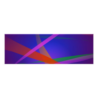 Purple Navy Crossing Colorful Lights Poster
