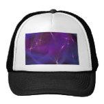 Purple nebula abstract art mesh hats