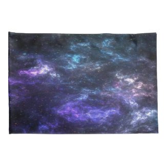 Purple Nebula Galaxy Pillow Cases