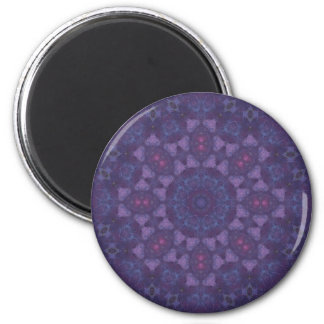Purple Nebula Mandala Magnet