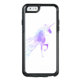 Purple nebula watercolor mythical magical unicorn OtterBox iPhone 6/6s case