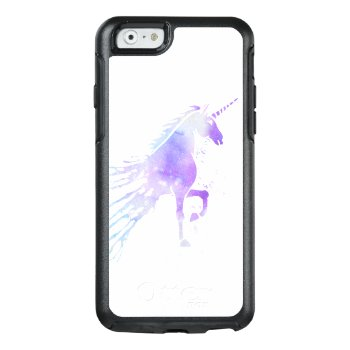 Purple Nebula Watercolor Mythical Magical Unicorn Otterbox Iphone 6/6s Case by pink_water at Zazzle