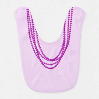 Purple Necklaces on Reversible Lilac Pink Bib