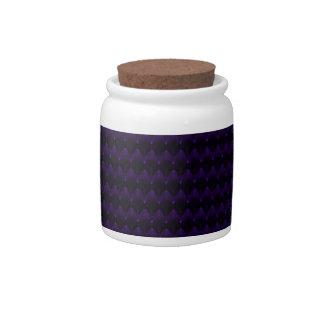 Purple Neon Alien Head Pattern Candy Jars