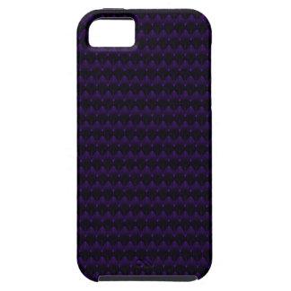 Purple Neon Alien Head Pattern iPhone 5 Covers