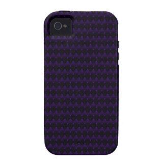 Purple Neon Alien Head Pattern Vibe iPhone 4 Covers