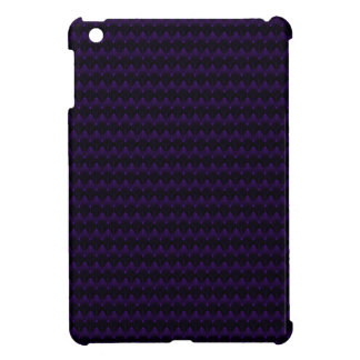 Purple Neon Alien Head Pattern iPad Mini Covers