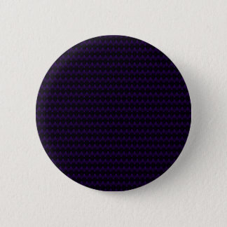 Purple Neon Alien Head Pattern Pinback Button