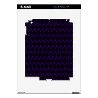 Purple Neon Alien Head Pattern Decal For iPad 2