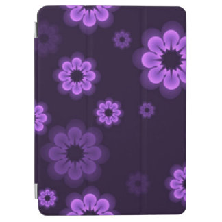 Purple Neon Flowers iPad Air Cover
