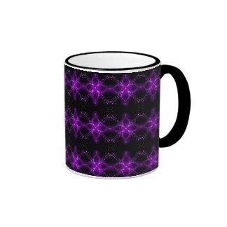 purple neon glow coffee mug by SWOLFY!