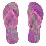 Purple Neon Palms Flip Flops
