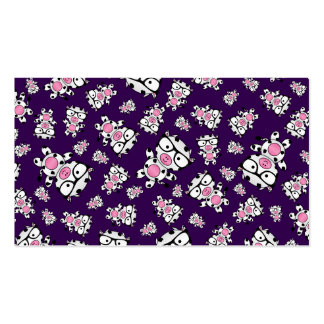 Purple nerd cow pattern Double-Sided standard business cards (Pack of 100)