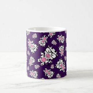 Purple nerd cow pattern coffee mug