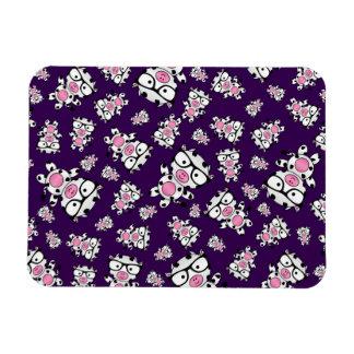 Purple nerd cow pattern flexible magnet