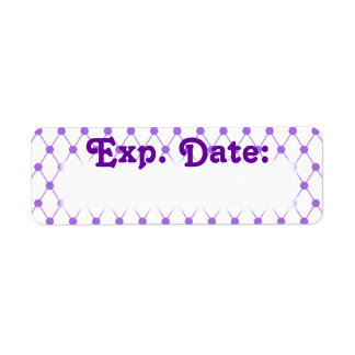 Purple Netting Expiration Date Labels