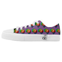 Purple Neurodiversity Pride Rainbow Brain Sneakers