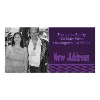 purple new address card