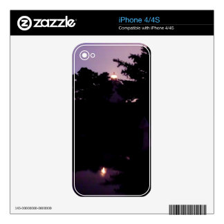 Purple Night Decal For iPhone 4S