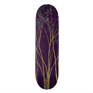 Purple Night Forest Skateboard