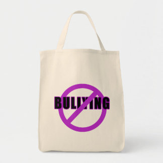 Purple NO BULLYING T-shirts and Buttons Canvas Bags
