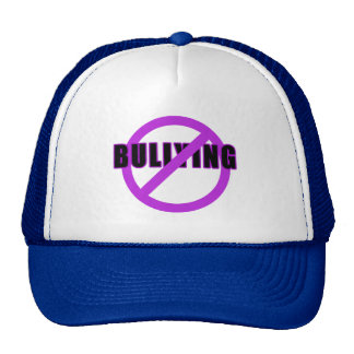 Purple NO BULLYING T-shirts and Buttons Trucker Hat