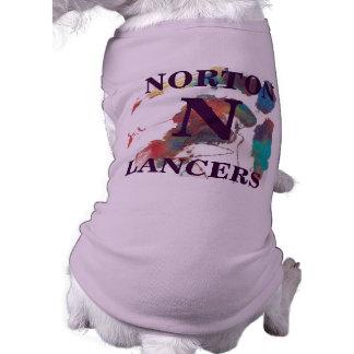 Purple Norton Lancers Dog Shirt