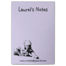 Purple Note Pad with Baby Elephant