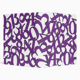 Purple Numbers Binder