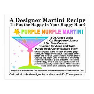 Purple Nurple Martini Recipe Postcard