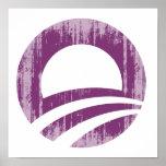 Purple O Faded.png Print