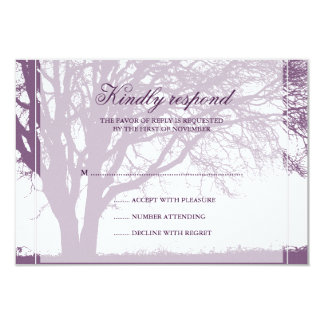 Purple Oak Fall Wedding Response Card