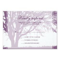 Purple Oak Fall Wedding Response Card 3.5