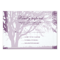 Purple Oak Fall Wedding Response Card 3.5