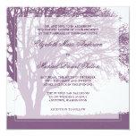 Purple Oak Tree Fall Wedding Card
