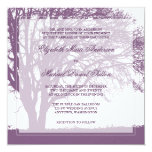 Purple Oak Tree Fall Wedding Personalized Invitation