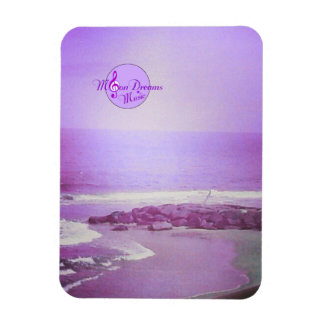 Purple Ocean and Sky 3X4 Inch Photo Magnet