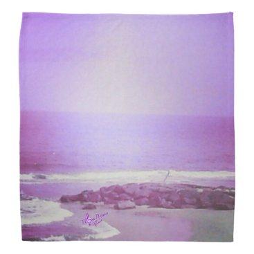 Beach Themed Purple Ocean & Sky Bandana