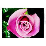 Purple Ocean Song Rose Blank Greeting Card