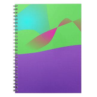 Purple Ocean Spiral Notebook