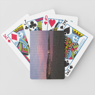 Purple ocean sunset in Costa del sol Spain mosaic. Bicycle Playing Cards
