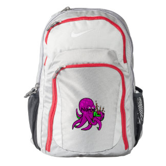 Purple Octopus Blowing on Some Green Bagpipes Nike Backpack