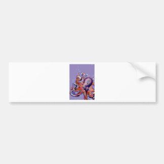 Purple Octopus Bumper Sticker