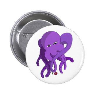 Purple Octopus Button