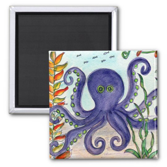 Purple Octopus Magnet